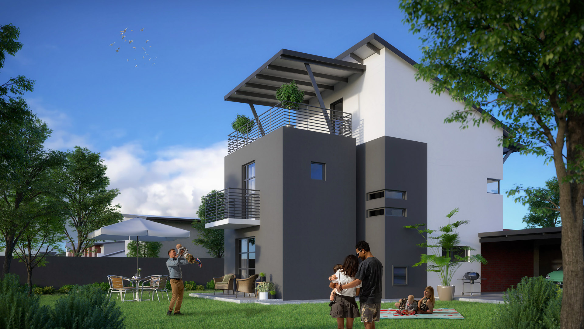 URBAN HOME DOUBLE STOREY 3 BEDROOMS + 2 BATHROOMS
